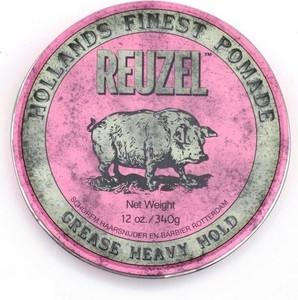 Reuzel Pink Grease Heavy Hold | Bardzo mocno utrwalająca pomada do włosów 340g - Wysyłka w 24H!