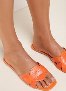 Pomarańczowe klapki Renee w stylu casual