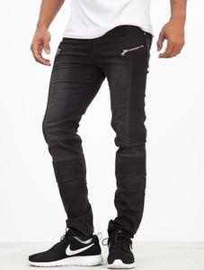 Czarne jeansy Sixth June z bawełny