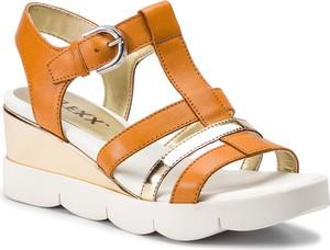 Sandały The Flexx w stylu casual ze skóry ekologicznej na koturnie