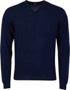 Niebieski sweter Fedeli z wełny