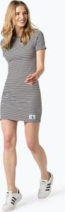 Sukienka Calvin Klein z krótkim rękawem w stylu casual z dżerseju
