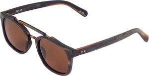Em Men`s Accessories Okulary przeciwsłoneczne brązowe - imitacja drewna EM 24