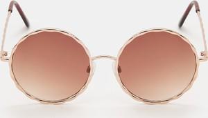 Brązowe okulary damskie Sinsay