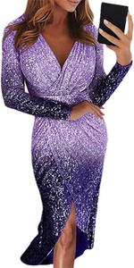 Sukienka Cikelly z długim rękawem kopertowa