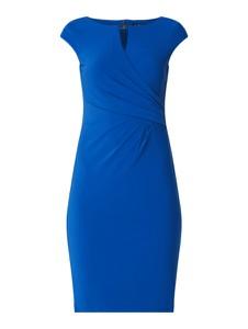 Niebieska sukienka Ralph Lauren z krótkim rękawem
