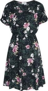 Sukienka Hanka By Miciak mini z krótkim rękawem z dekoltem w kształcie litery v