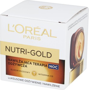 L'Oreal Paris L'oréal Paris Nutri Gold Nawilżająca Terapia Odżywcza Na Noc 50 Ml