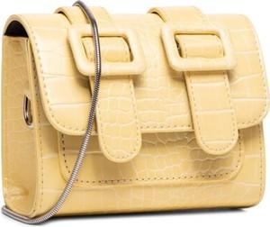 Żółta torebka DeeZee średnia ze skóry