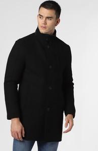 Czarny płaszcz męski Finshley & Harding z wełny