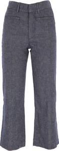 Niebieskie spodnie Dondup z bawełny
