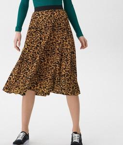 Brązowa spódnica House midi w stylu casual