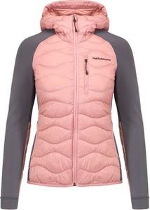 Różowa kurtka Peak performance krótka w sportowym stylu