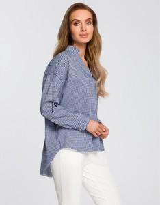 Niebieska koszula MOE w stylu casual z długim rękawem