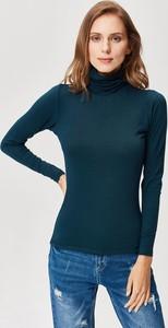 Bluzka FEMESTAGE Eva Minge w stylu casual z długim rękawem z golfem