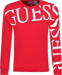 Czerwona bluza dziecięca Guess