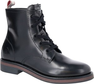 Czarne botki Gant z płaską podeszwą