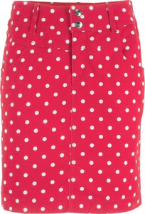 Czerwona spódnica bonprix bpc bonprix collection w stylu boho