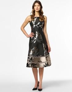 Czarna sukienka Adrianna Papell midi z okrągłym dekoltem bez rękawów