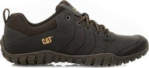 Brązowe buty trekkingowe Caterpillar z zamszu sznurowane
