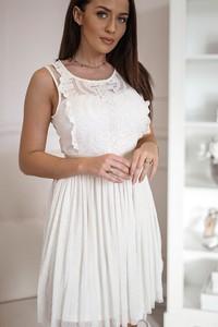 e161221fcb balowa satynowa sukienka z tiulem - stylowo i modnie z Allani