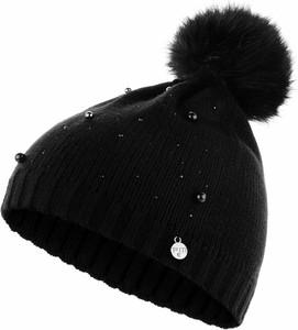 Czarna czapka Prima Moda w stylu casual