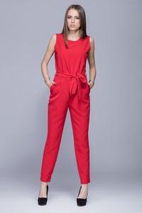 Czerwony kombinezon Harmony z długimi nogawkami