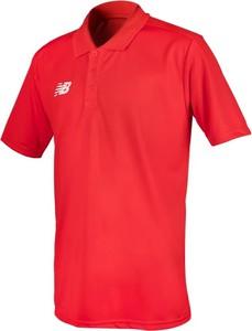 Czerwona koszulka polo New Balance z krótkim rękawem