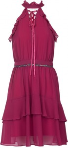 Sukienka VISSAVI w stylu glamour kopertowa bez rękawów