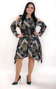 Sukienka Exclusive Line z długim rękawem
