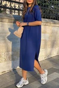 Niebieska sukienka IVET midi