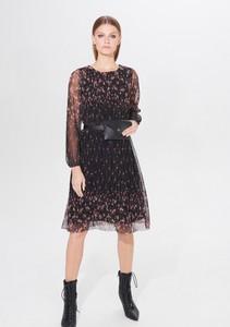 Sukienka Mohito midi z długim rękawem w stylu casual