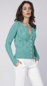 Turkusowy sweter Mkm Swetry w sportowym stylu