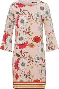 Sukienka More & More w stylu casual z okrągłym dekoltem z bawełny