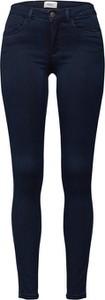 Granatowe jeansy Only w street stylu z jeansu