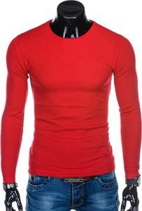 Czerwony sweter Edoti w stylu casual
