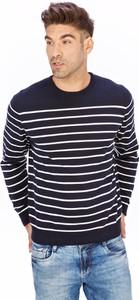Turkusowy sweter Lanieri Fashion z bawełny