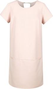 Sukienka Fokus z tkaniny mini dla puszystych