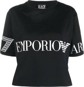 Bluzka Emporio Armani z krótkim rękawem z bawełny