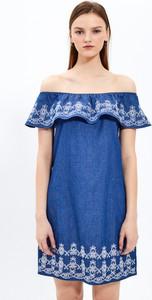 Sukienka Gate z odkrytymi ramionami z bawełny