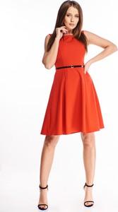 Sukienka Ptakmoda.com z okrągłym dekoltem mini