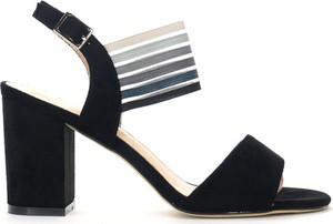 Sandały Sergio Leone na obcasie na średnim obcasie z klamrami