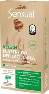 Joanna Sensual, plastry do depilacji ciała Vegan - Naturalny Wosk Roślinny, 12 szt.