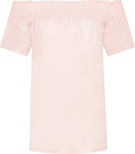 Różowa bluzka Silvian Heach z lnu