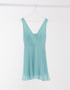 Niebieska sukienka Ax Paris na ramiączkach z dekoltem w kształcie litery v