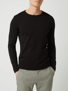 Sweter Tom Tailor z okrągłym dekoltem z bawełny w stylu casual