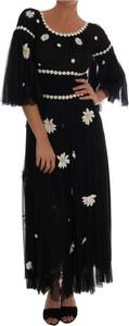 Sukienka Dolce & Gabbana z długim rękawem z jedwabiu