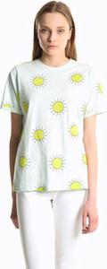 T-shirt Gate z okrągłym dekoltem w młodzieżowym stylu z krótkim rękawem