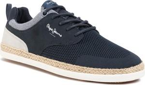 Buty sportowe Pepe Jeans z tkaniny sznurowane