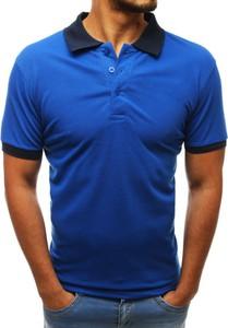 Niebieska koszulka polo Dstreet w stylu casual
